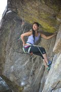 Rock Climbing Photo: Natalie Duran all smiles leading up Powder Keg in ...