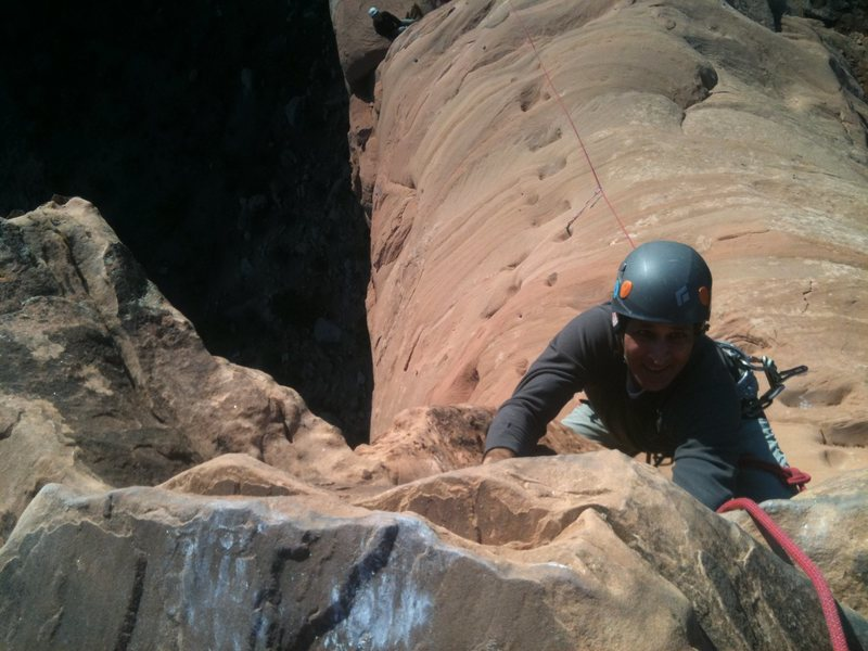 Rock Climbing Photo: Phil Sabet, between smokes.