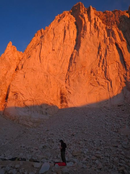 Mt. Whitney. Got lost on Left Wing Extremist and ended up doing Direct East Face instead.