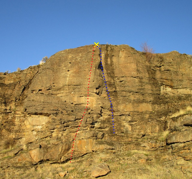 Rock Climbing Photo: West End topo