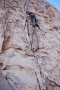 Rock Climbing Photo: Christopher Mitchell getting his first trad lead i...