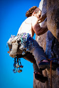 Rock Climbing Photo: Jon Hartmann leading Eff Eight with enough rope on...