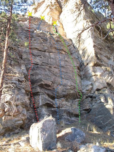 Rock Climbing Photo: Eleusinian Fields topo