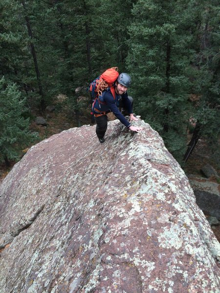 """Rock Climbing Photo: Here is the opening """"crux"""" Roach talks a..."""