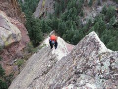 Rock Climbing Photo: Fun knife edge on the way. This really is a great ...