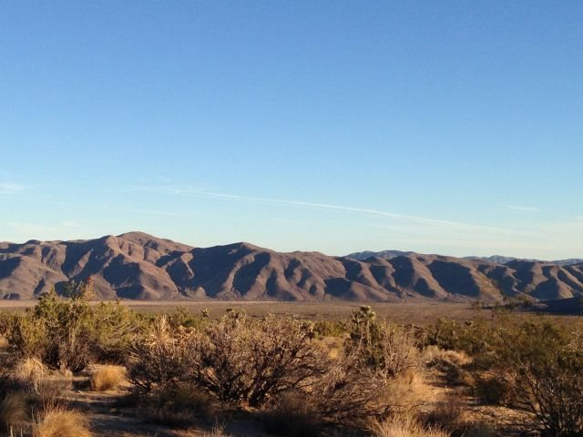 Morning light on the Hexie Mountains, Joshua Tree NP