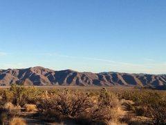 Rock Climbing Photo: Morning light on the Hexie Mountains, Joshua Tree ...