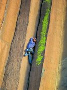 Rock Climbing Photo: Chuck Becker on Muffin Top, Trout Creek Photo: Nat...