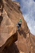 Rock Climbing Photo: Me, pitch 2 of Red Rocket Tower. Photo taken by St...