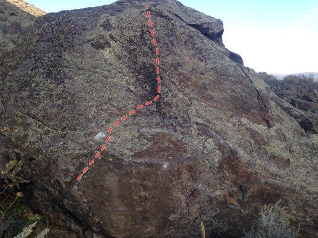 Rock Climbing Photo: Red Fish v2