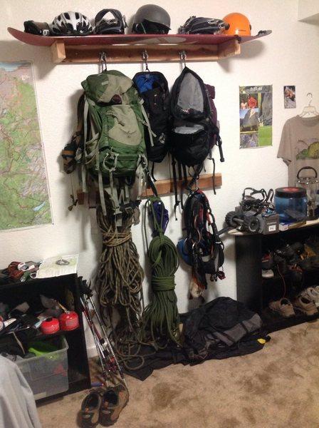 Rock Climbing Photo: Gear Rack