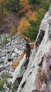Rock Climbing Photo: Contemplating the last moves on PP.  Not a whole l...