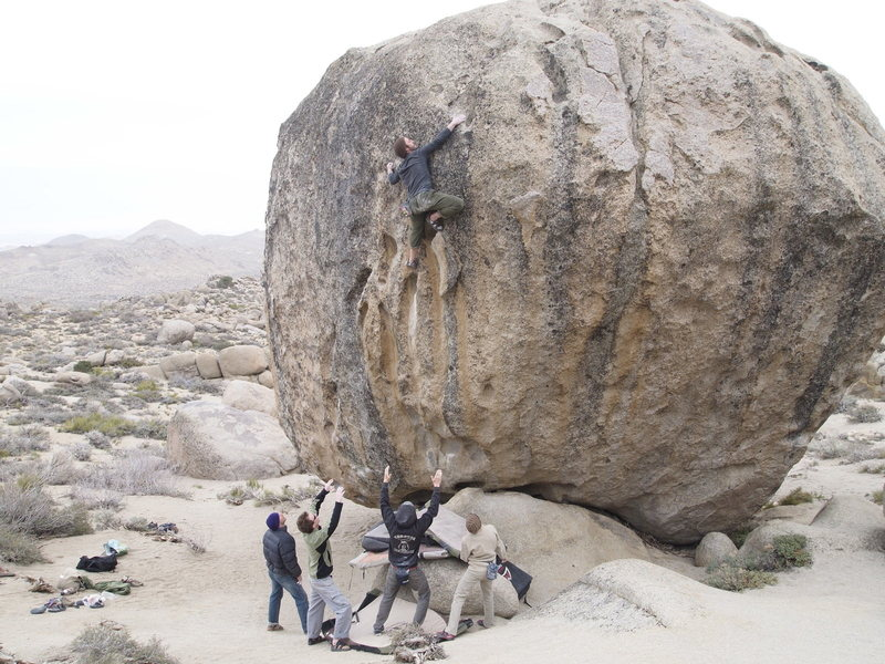 Rock Climbing Photo: Fun line on an amazing boulder! Some of the holds ...