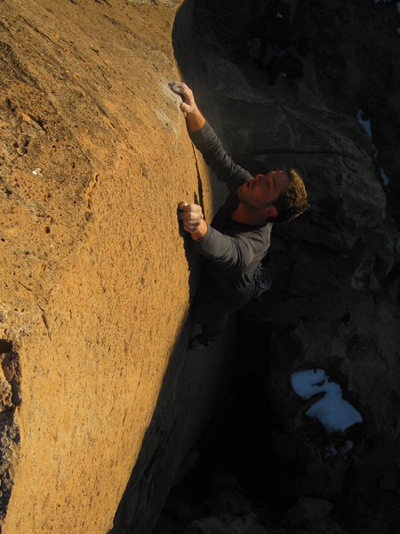 Rock Climbing Photo: Very thought provoking for the grade