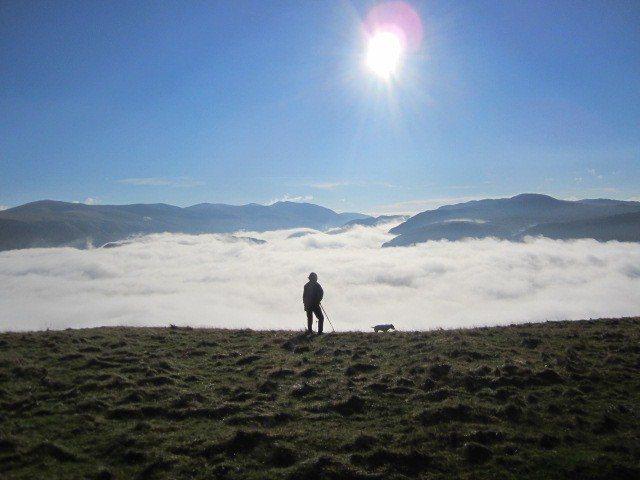 Rock Climbing Photo: Looking towards the Helvelyn Range