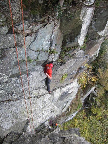 Rock Climbing Photo: Derision Groove, Shepherds Crag