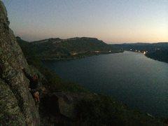 Rock Climbing Photo: Solo at sunset.