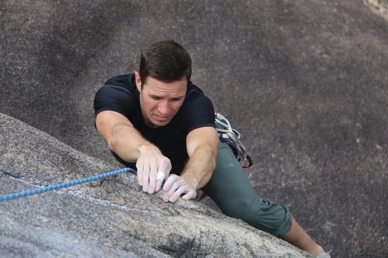 Rock Climbing Photo: Charley Kelly on the bouldery start.