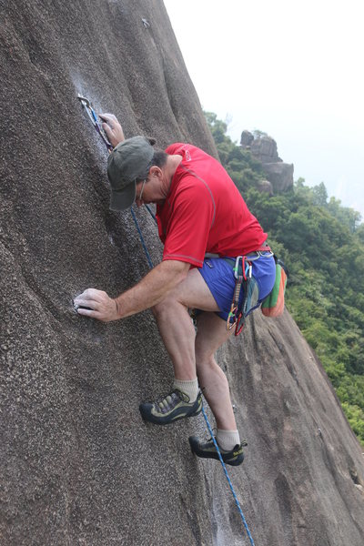 Slab climbing at Devil's Peak.