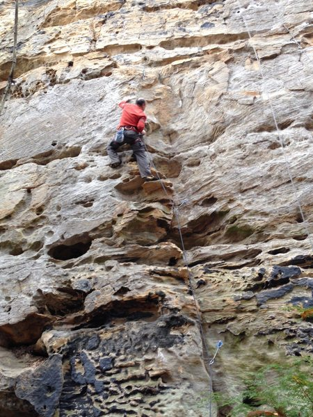 "Rock Climbing Photo: ""A Wave New World"", 10c, Drive By Crag, ..."