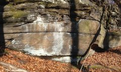 Rock Climbing Photo: Photo showing left portion of Warhol traverse