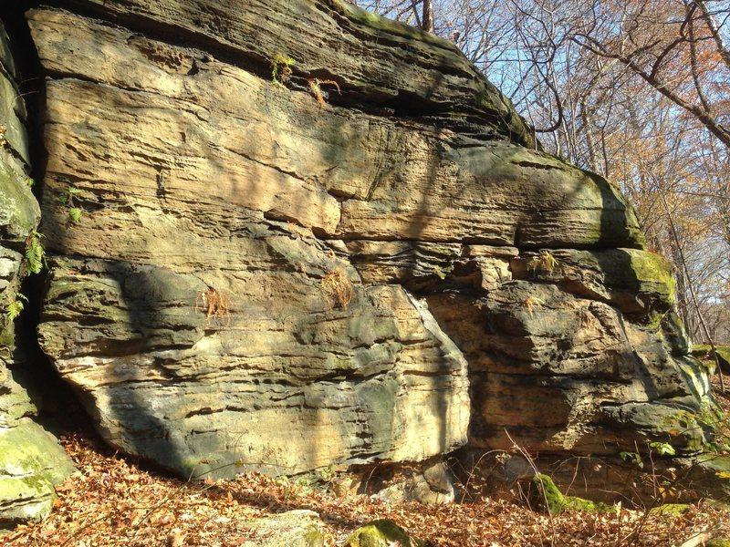 """Rock Climbing Photo: South Face traverse route through """"Krak""""..."""