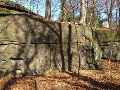 "Rock Climbing Photo: This is the east portion of ""Notebook"" (..."