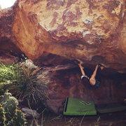 Rock Climbing Photo: hueco tanks V2