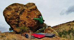 Rock Climbing Photo: Working the feet over to match the left next to th...
