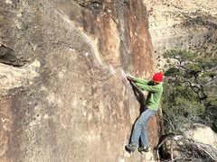 Rock Climbing Photo: Early moves on Devastator