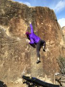 Rock Climbing Photo: Making the move off of Devastator and onto Moose D...