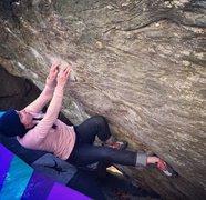 Rock Climbing Photo: Spak, V4, Great Barrington