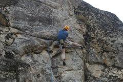 Rock Climbing Photo: Rich on Vapor Trails