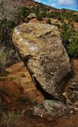 Rock Climbing Photo: The south face overhanging lip of French Press.