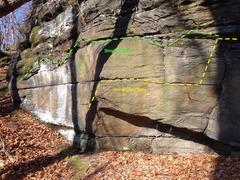 "Rock Climbing Photo: Latitude: 41° 7' 25.72"" N Longitude: 81° 30..."