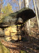 Rock Climbing Photo: Nice little boulder problem just South of the Sout...