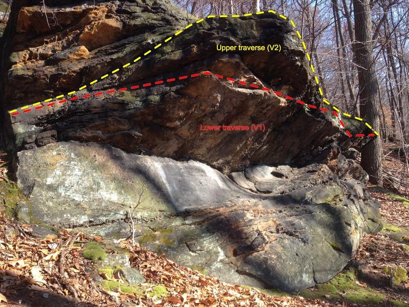 Fun boulder problem just South of Warhol traverse.