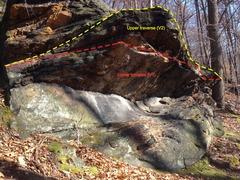 Rock Climbing Photo: Fun boulder problem just South of Warhol traverse.