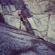 Rock Climbing Photo: Andrew on the Super Crack pitch.