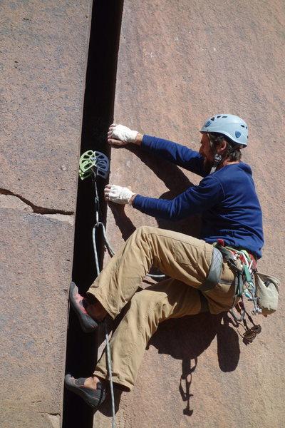 Aaron working the bottom.