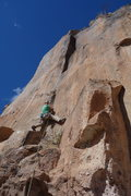 Rock Climbing Photo: Kevin at the base of the route. He traversed in di...