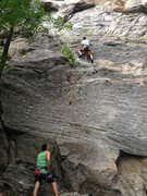 Rock Climbing Photo: Here's a butt shot of me leading Working Man this ...