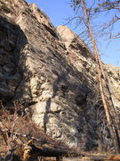 Rock Climbing Photo: The slab at the south end of the Middle Wall area.