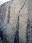 Rock Climbing Photo: Mr. Toad: V0-, face left of the thin crack.