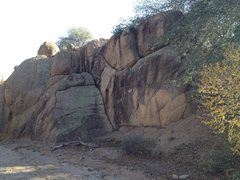 Rock Climbing Photo: Another large boulder in the wash to the West. Rou...