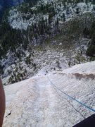 Rock Climbing Photo: Looking back at the long runout on Pitch 5 or 6 du...