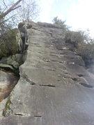 Rock Climbing Photo: Handcrack up high in photo.