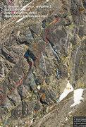 Rock Climbing Photo: Close up version of topo PDF.