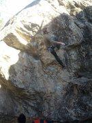 Rock Climbing Photo: Overhung Roof Center, Indian Rock