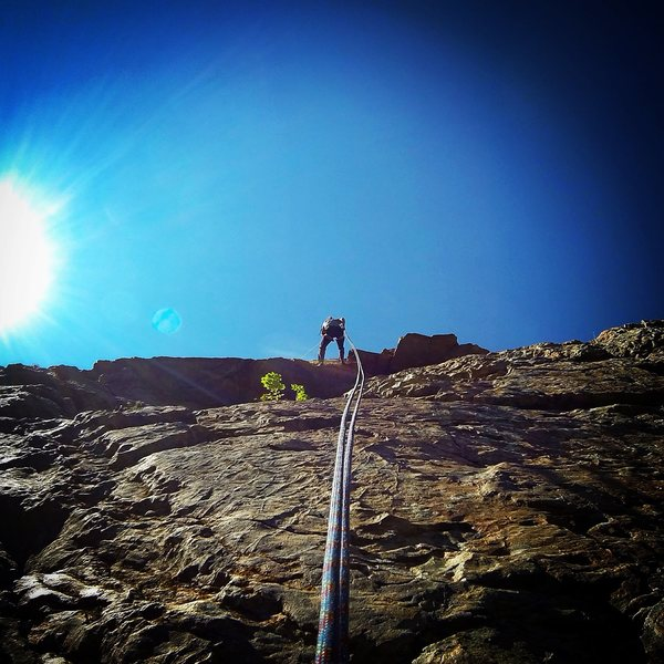 Rock Climbing Photo: Rapping off.